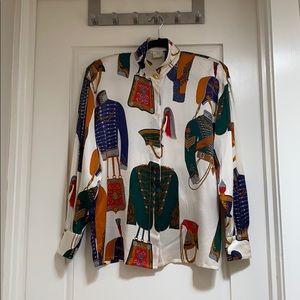 Escada silk blouse vintage